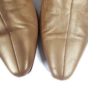 Vintage Shoes - Vintage Gold Mules Larry Stuart Leather Size 8.5N